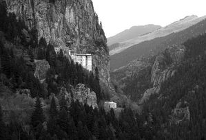 Panagia Soumela Monastery, where many Chrypto-Christians were married.