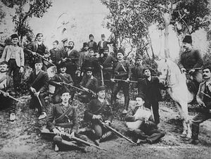 Hunting party, with a Russian visitor.