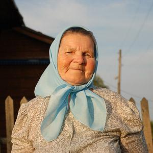 Елена Егоровна, старушка из закрытого старческого дома. Фото: А.Поспелов / Православие.Ru