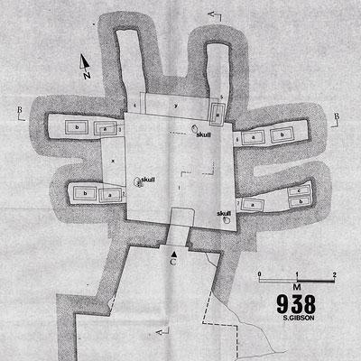 Схема склепа в Талпиот (рис. Шимона Гибсона)