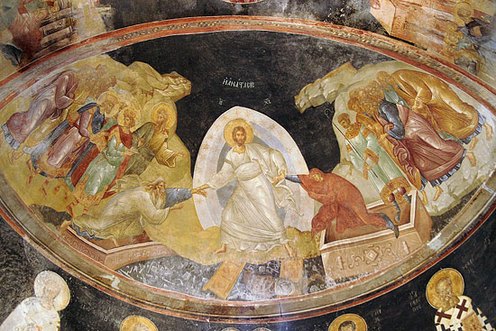 Фреска «Воскресение Христово» (Константинополь, монастырь Хора, XIII в.)