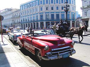 Американские автомобили 50-60-х гг. XX века на улицах современной Гаваны