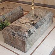 Каменные раки над местом захоронения прпп. Сергия и Варвары