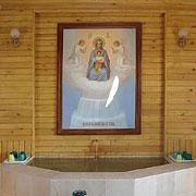 Знаменитый радоновый источник Введено-Оятского монастыря