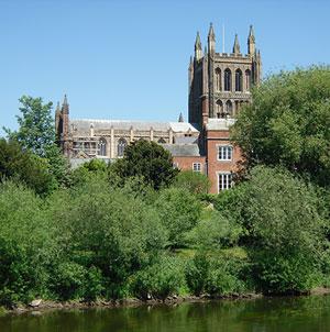 Вид на собор святого Этельберта в Херефорде (Фото: И. Лапа)