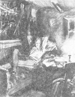 Печорин. Илл. Д. А. Шмаринова. Тушь, уголь. 1941.