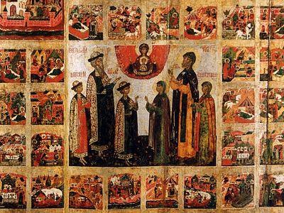 Повесть о Петре и Февронии в иконных клеймах