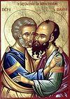 Всенощное бдение в Сретенском монастыре накануне дня памяти святых первоверховных апостолов Петра и Павла