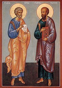 Загрузить увеличенное изображение. 319 x 450 px. Размер файла 37122 b.  Святые апостолы Петр и Павел