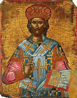 Иисус Христос Царь Царей и Великий Архиерей. Ок. 1600. Доска, яичная темпера