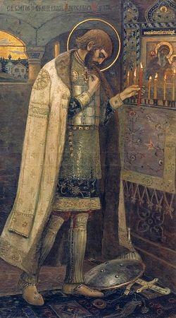 Михаил Нестеров. Благоверный князь Александр Невский. 1894-95 г.г.