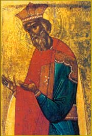 Святой князь Владимир. Новгород, начало XV в.