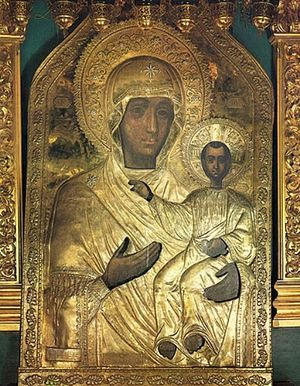 The miracle-working icon of the Smolensk Mother of God.