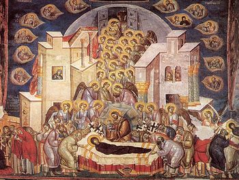 Fresco of the Dormition of The Mother of God