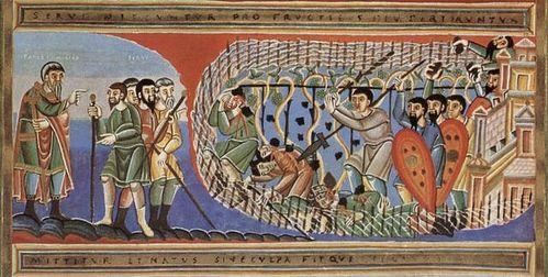 Притча о злых виноградарях. Кодекс Ауреус Эптернаценсис; Около 1035-1040