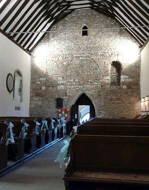 Интерьер церкви святого Мартина в Кентербери