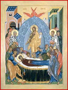 Успение Пресвятой Богородицы (икона П. Бусалаева).