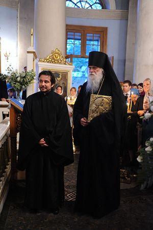 Иеромонах Габриэль в храме Всех скорбящих Радость в Москве