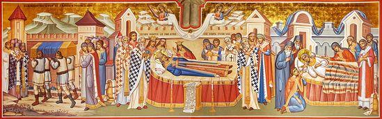 Загрузить увеличенное изображение. 1257 x 394 px. Размер файла 639504 b.  Фрески М.Морошана в румынском монастыре Путна. <br>Фотография предоставлена братией обители