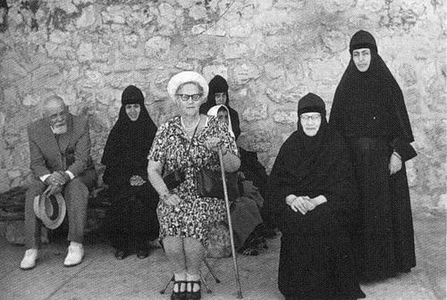 Вера Константиновна в гостях у своей сестры – игумении Тамары на Елеоне