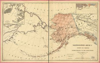Map of Alaskan territory, 1876.