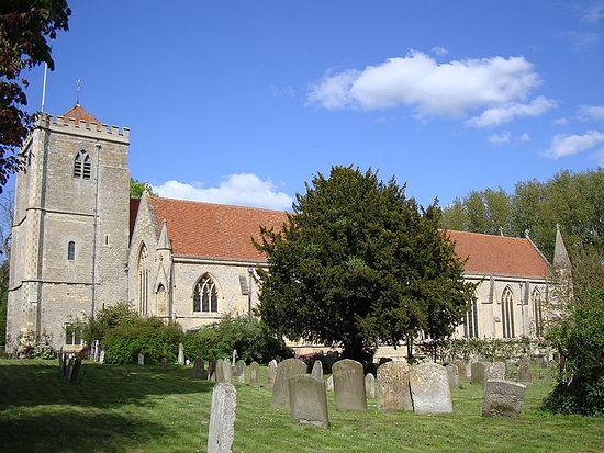 Древняя монастырская церковь в Дорчестере-на-Темзе
