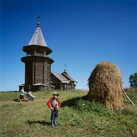 Церковь пророка Илии в Карелии (с выставки в Хельсинки)
