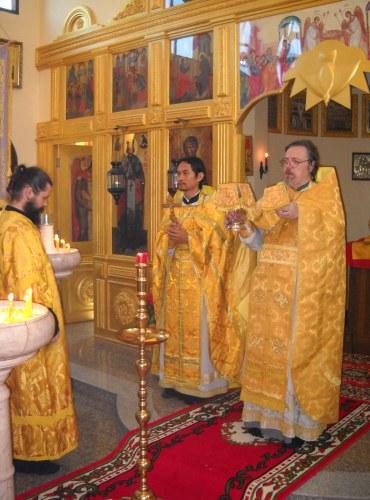 Архимандрит Олег (Черепанин) с иереем Даниилом Ванна – первым православным священником тайцем