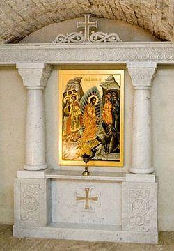 Загрузить увеличенное изображение. 800 x 533 px. Размер файла 100515 b.  Крипта собора Сретения Владимирской иконы Божией Матери. Сретенский сонастырь