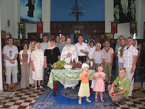 Прихожане Воскресенского храма в г. Рабате