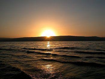 Sunset on the Sea of Galilee