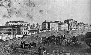 Ф. Алексеев. Вид госпиталя в Лефортово. Эрмитаж