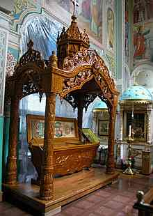 The reliquary in the St. Nicholas Cathedra, Alma-Ata.