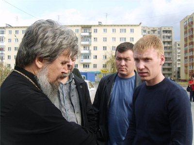 Егор Бычков и протоиерей Геннадий Ведерников