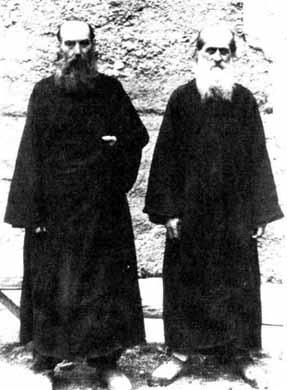 Betania elders: Archimandrite John (Maisuradze) and Archimandrite George (Mkheidze) in schema, John.