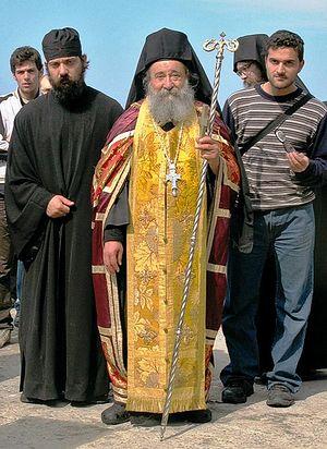 Загрузить увеличенное изображение. 500 x 635 px. Размер файла 134170 b.  Архимандрит Григорий (Зумис), настоятель Дохиарского монастыря