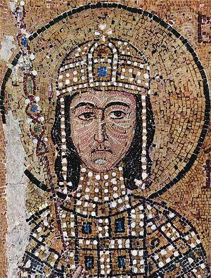 Византийский император Алексей I Комнин. Мозаика, София Константинопольская, XI век