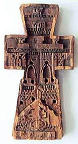 Крест-мощевик. ХVI в. Музей «Помор», поселок Баренцбург, Шпицберген, Норвегия