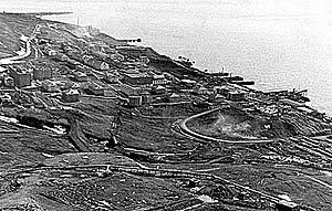 Баренцбург с высоты птичьего полета 1970-е гг.