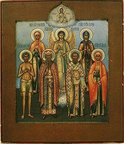 Загрузить увеличенное изображение. 500 x 579 px. Размер файла 148044 b.  Ил. 5. Братья Чириковы. Семейная икона с ангелом хранителем. Конец XIX – начало ХХ вв.