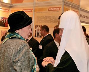 Святейший Патриарх Кирилл и телеведущая Любовь Акелина