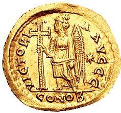 Загрузить увеличенное изображение. 500 x 221 px. Размер файла 72309 b.  Тремисс императора Маркиана