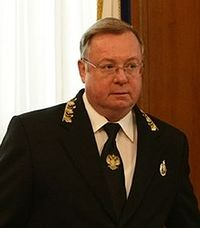 Sergei Vadimovich Stepashin, President of the Rusian Book Union.