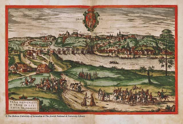 Карта города Гродно времен Польско-Литовского государства. XVI век