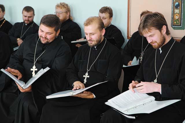 Репетиция хора духовенства Гродненской области