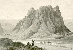 Гора Синай. Рисунок XIX в.