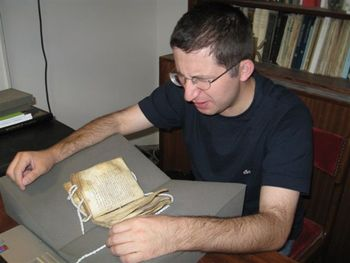 Христос Канавас читает Тропологий 8 века