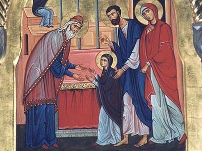 Входила ли Богородица во Храм?