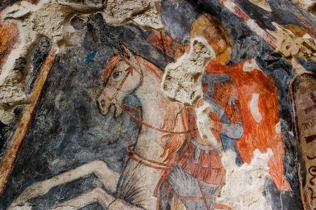 5. Святой Георгий Победоносец. Фреска на южной стене Нузальской церкви