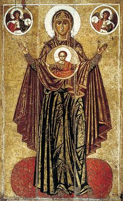 Богоматерь «Великая Панагия». Ок. 1224 г. ГТГ